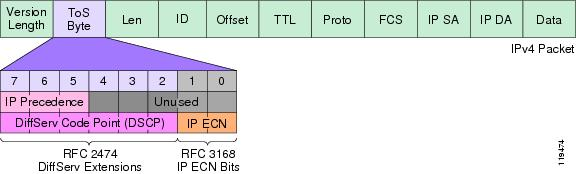 The IP ToS Byte (DSCP and IP ECN)